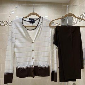 3 piece designer cardigan and pant set